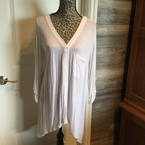 NWT White Roll Sleeve Tunic